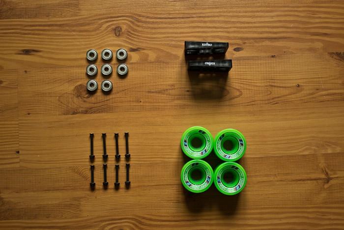 Mini Logo Lager, Shockpads, Achsschrauben, Wheels